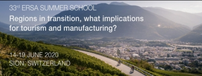 33rd ERSA Summer School | 14-19 June 2020, Sion, Switzerland