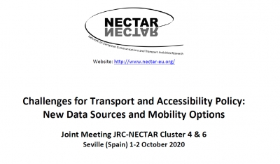 NECTAR CL 6 @ Seville: Challenges for Transport and Accessibility Policy: New Data Sources and Mobility Options