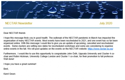 NECTAR Newsletter summer 2020