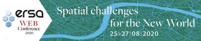The ERSA Web Conference | Spatial Challenges for the New World, 25-27 August, 2020