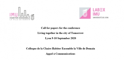 Call for papers for the conference  Living together in the city of Tomorrow, Lyon 9-10 September 2020