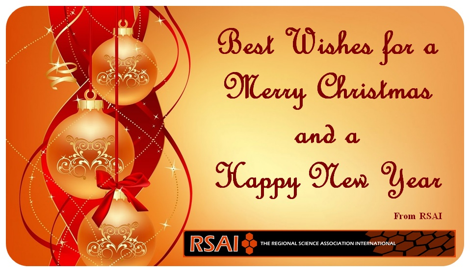 regional science best wishes for a merry christmas and a happy new year from rsai - Best Wishes For Christmas