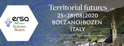 60th ERSA Congress | 25-28 August, 2020, Bolzano, Italy