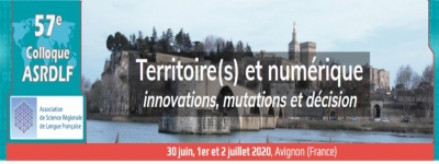 57th colloquium of ASRDLF | July 2021, Avignon, France