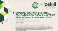 Course on CONTINUING PROFESSIONAL EDUCATION ON DATA ANALYTICS AND SPATIAL ECONOMETRICS, 22-25 July 2019, De La Salle University, Manila, Philippines